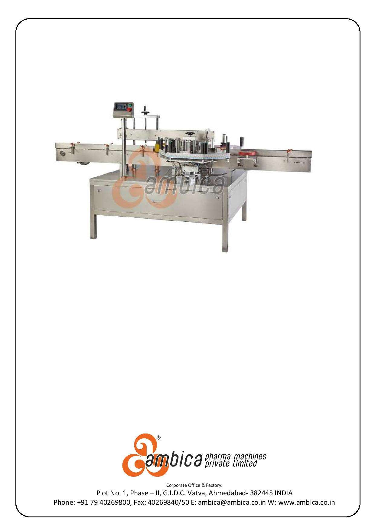 Automatic Double Side Self Adhesive (Sticker) Flat Container Labelling Machine