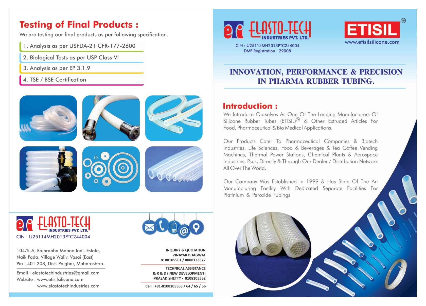 Silicone Rubber Tubes (ETISILR)
