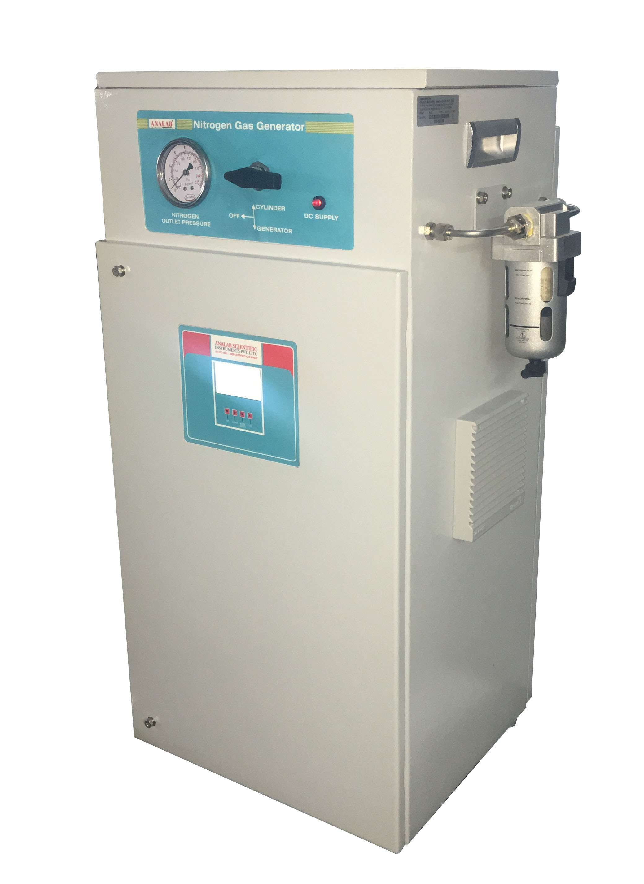 Nitrogen Gas Generator (without Air Compressor) - (Capacity 100 liter/min, Purity of < 97 %)