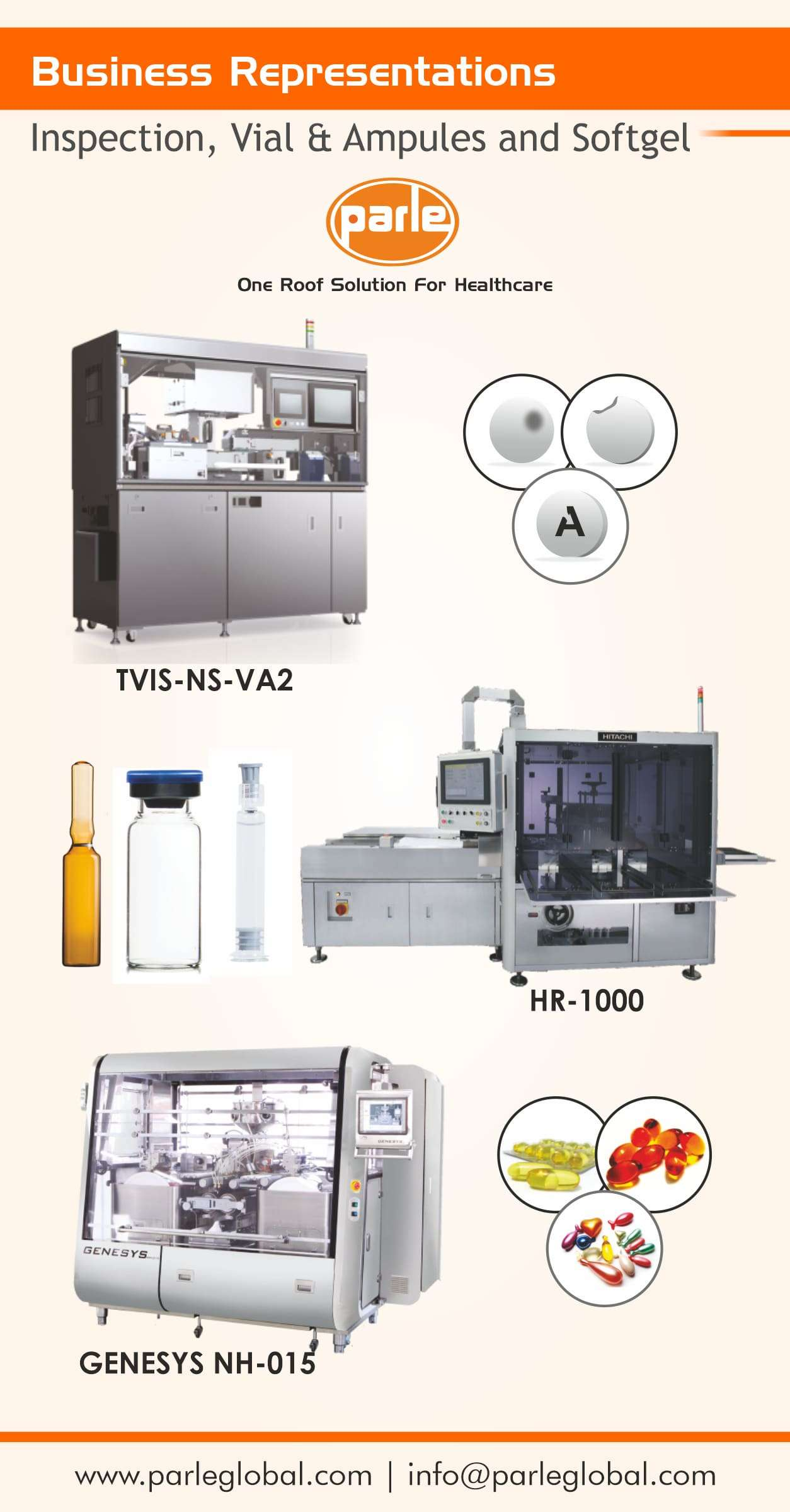 Tablet/Capsule/Amouple/Vial Inspection System and Encapsulation Solution