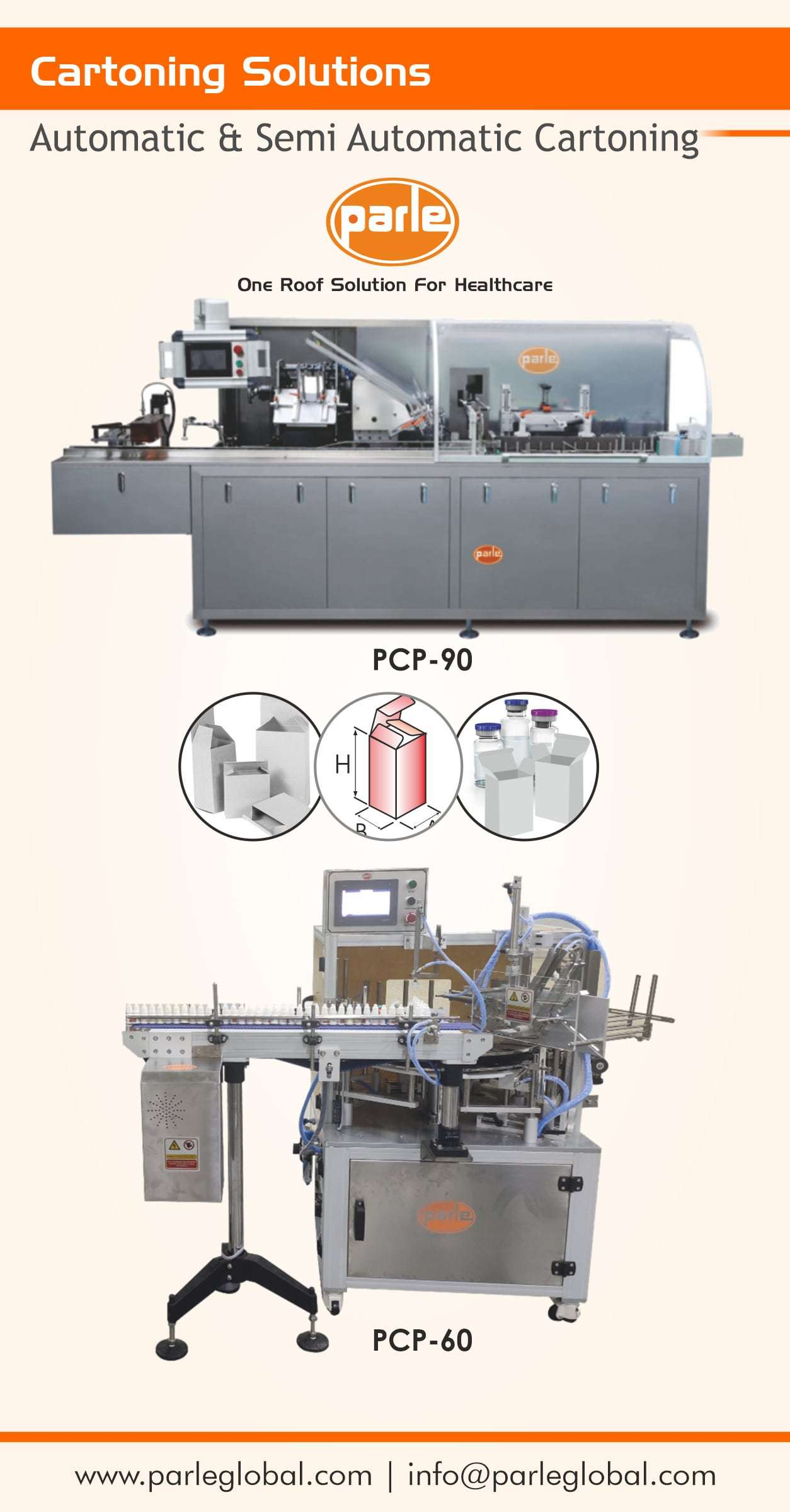 Semi Automatic and Automatic Cartoning solutions