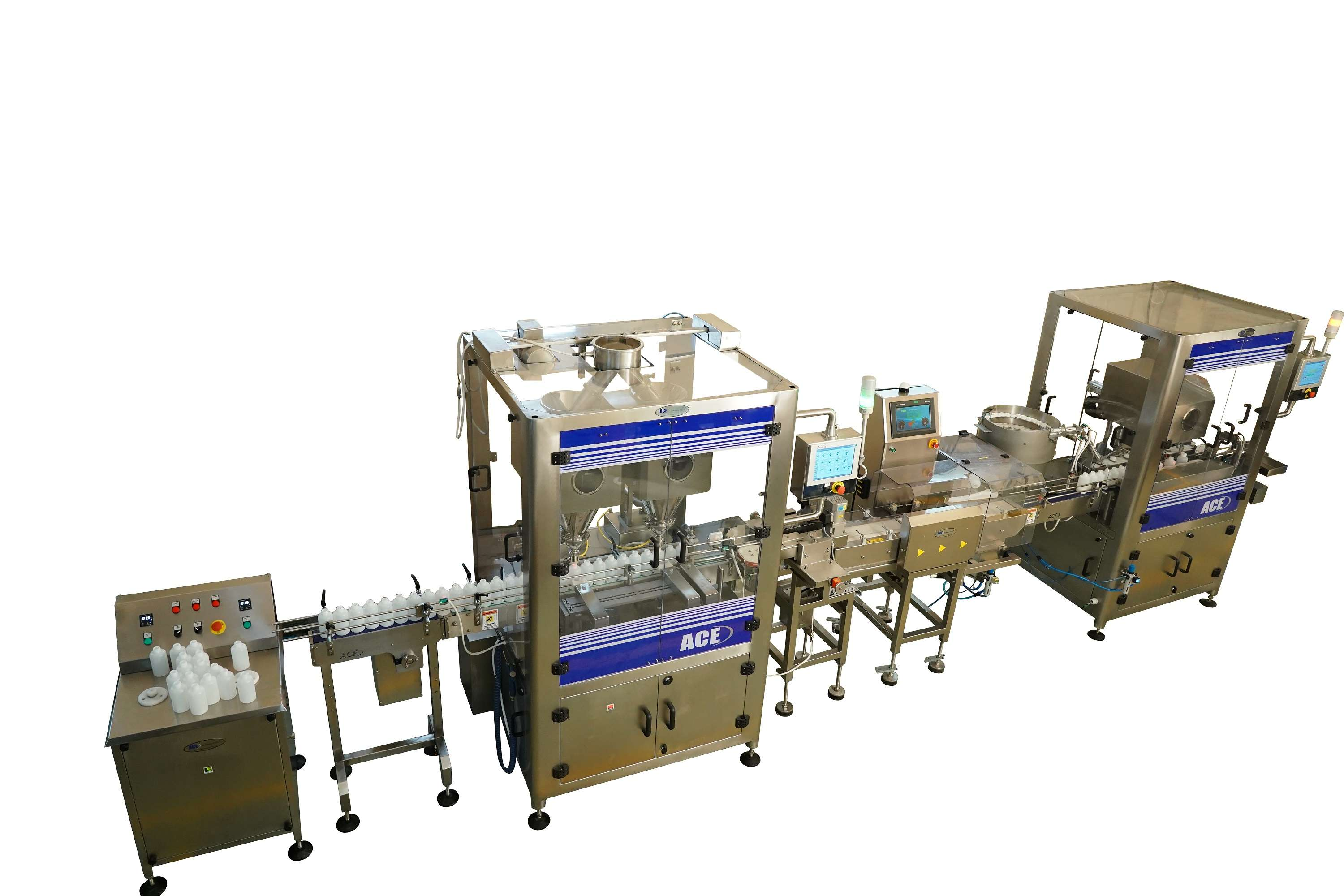 Fully Automatic Double Head Dry Syrup Filling Line