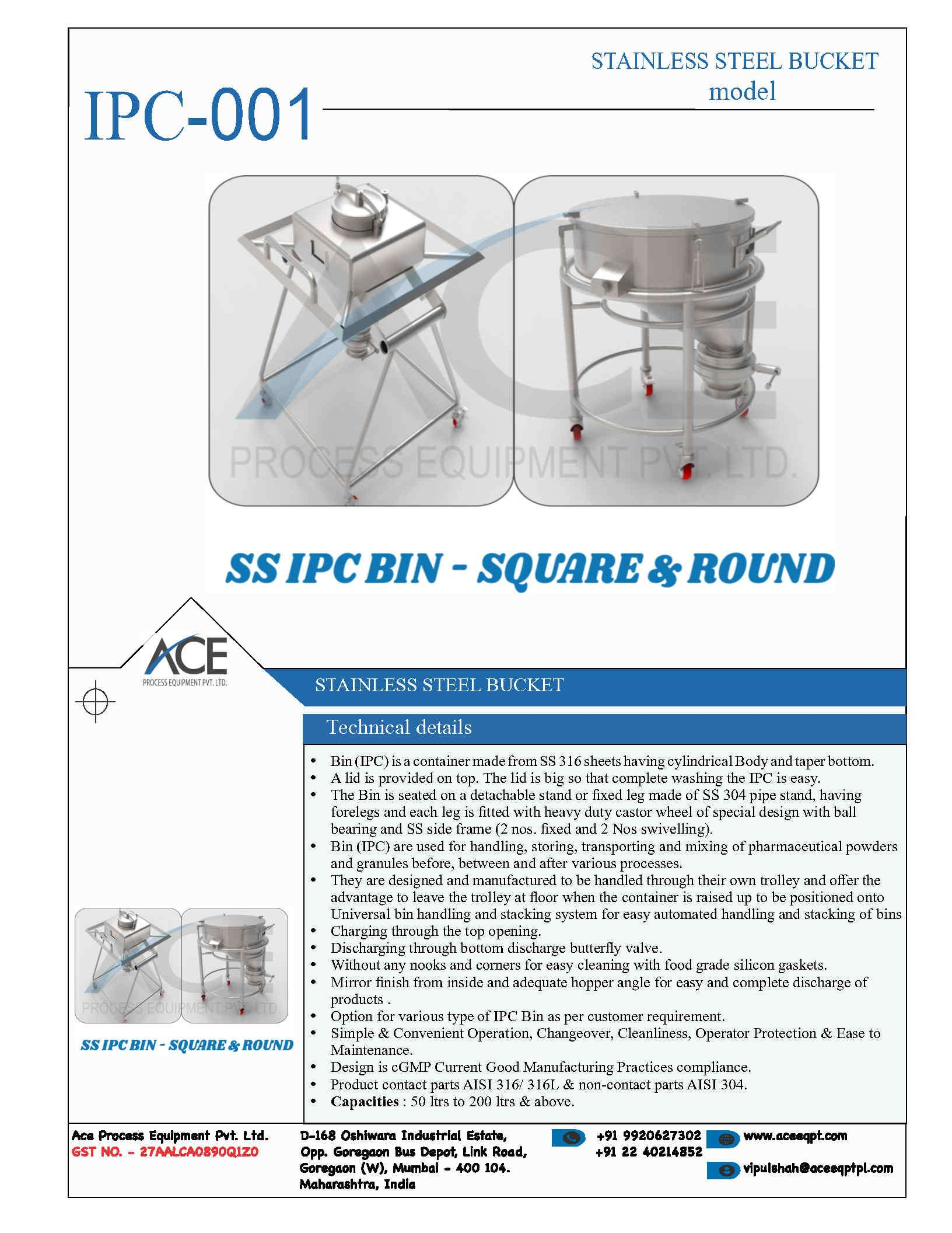 SS IPC CONTAINERS