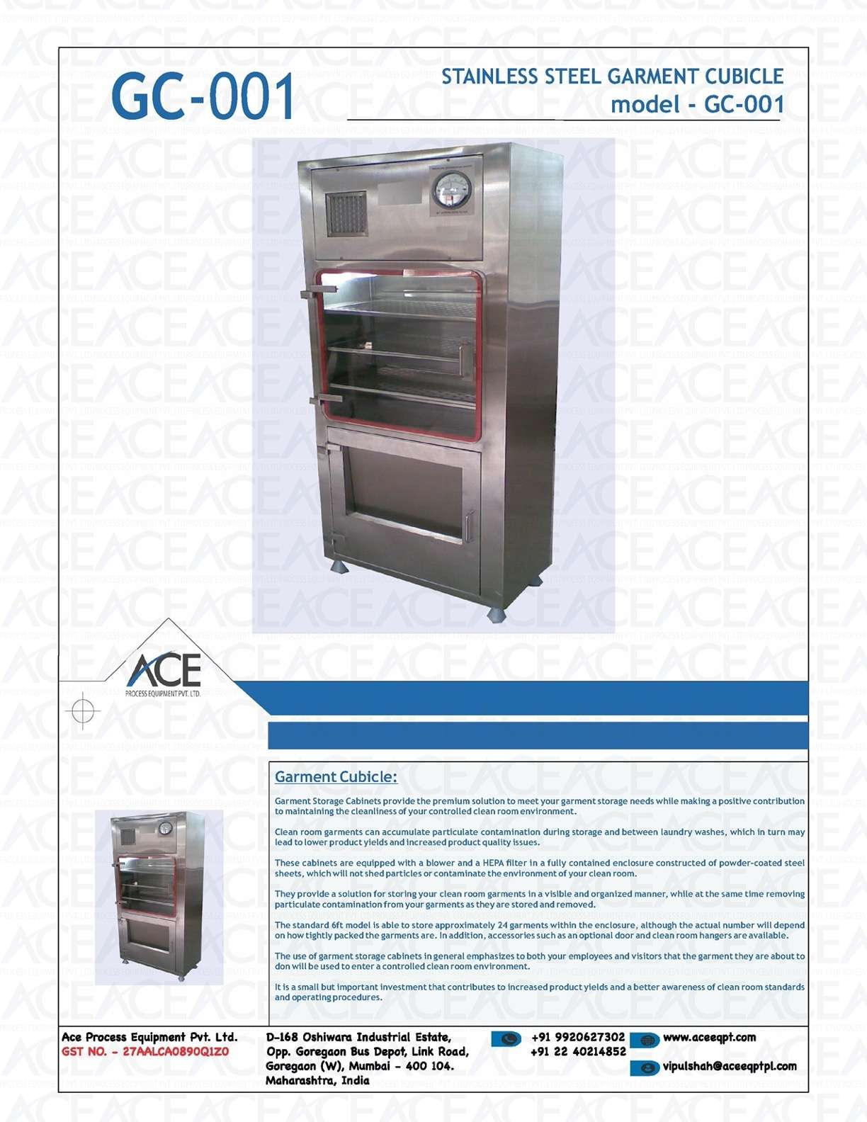STAINLESS STEEL GARMENT CUBICLE CABINET
