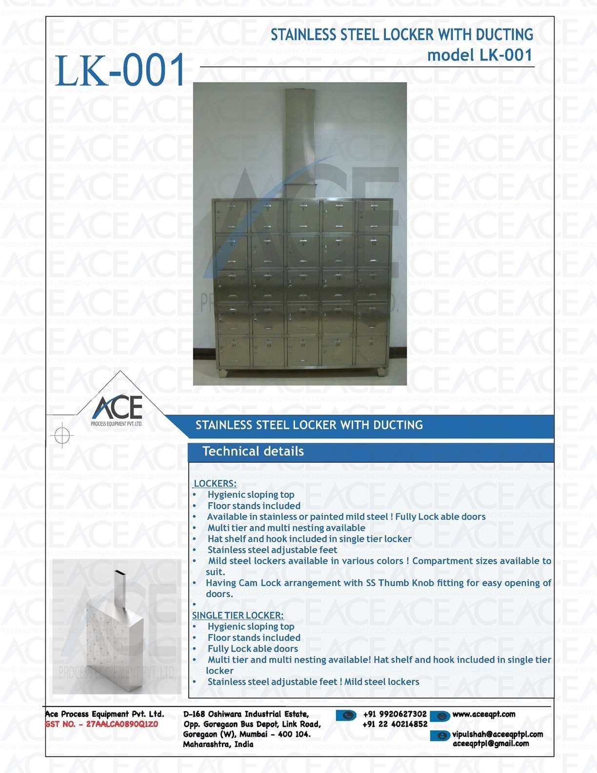 SS SHOE LOCKER WITH DUCTING