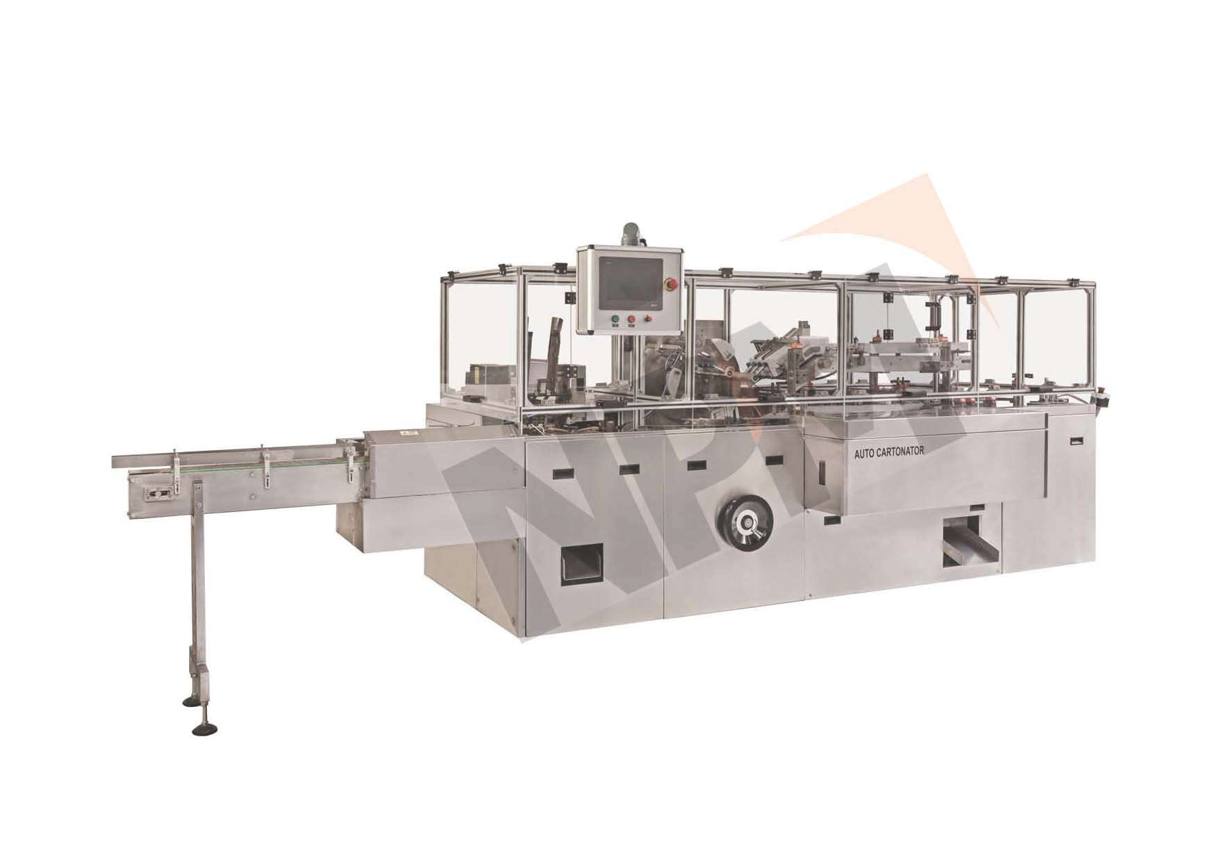 AUTOMATIC CONTINUOUS MOTION CARTONING MACHINE