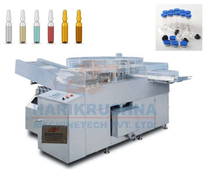 AUTOMATIC HIGH SPEED ROTARY AMPOULE & VIAL WASHING MACHINE