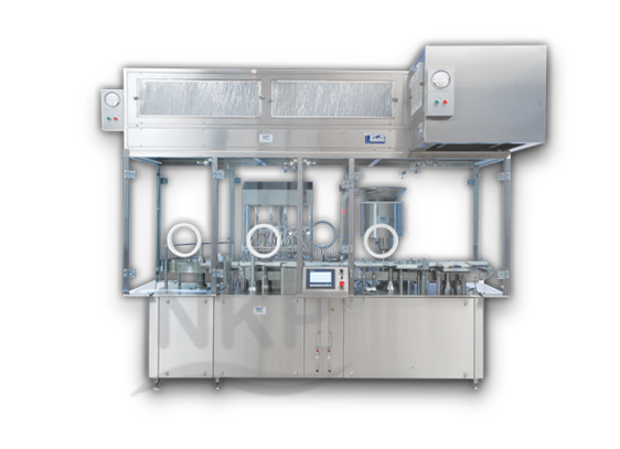 Liquid Filling Machine - Automatic Six Head Injectable Liquid Filling with Rubber Stoppering Machine NKLFRS - 150SP