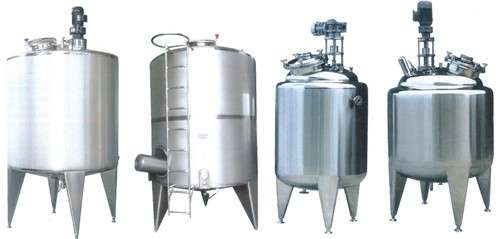 Stainless Steel storage and mixing Tanks