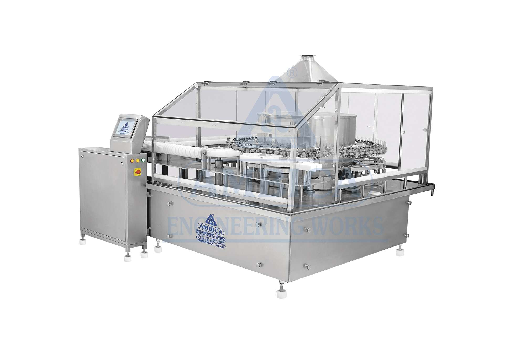 Automatic High Speed Rotary Vial/Ampoule Washing Machine