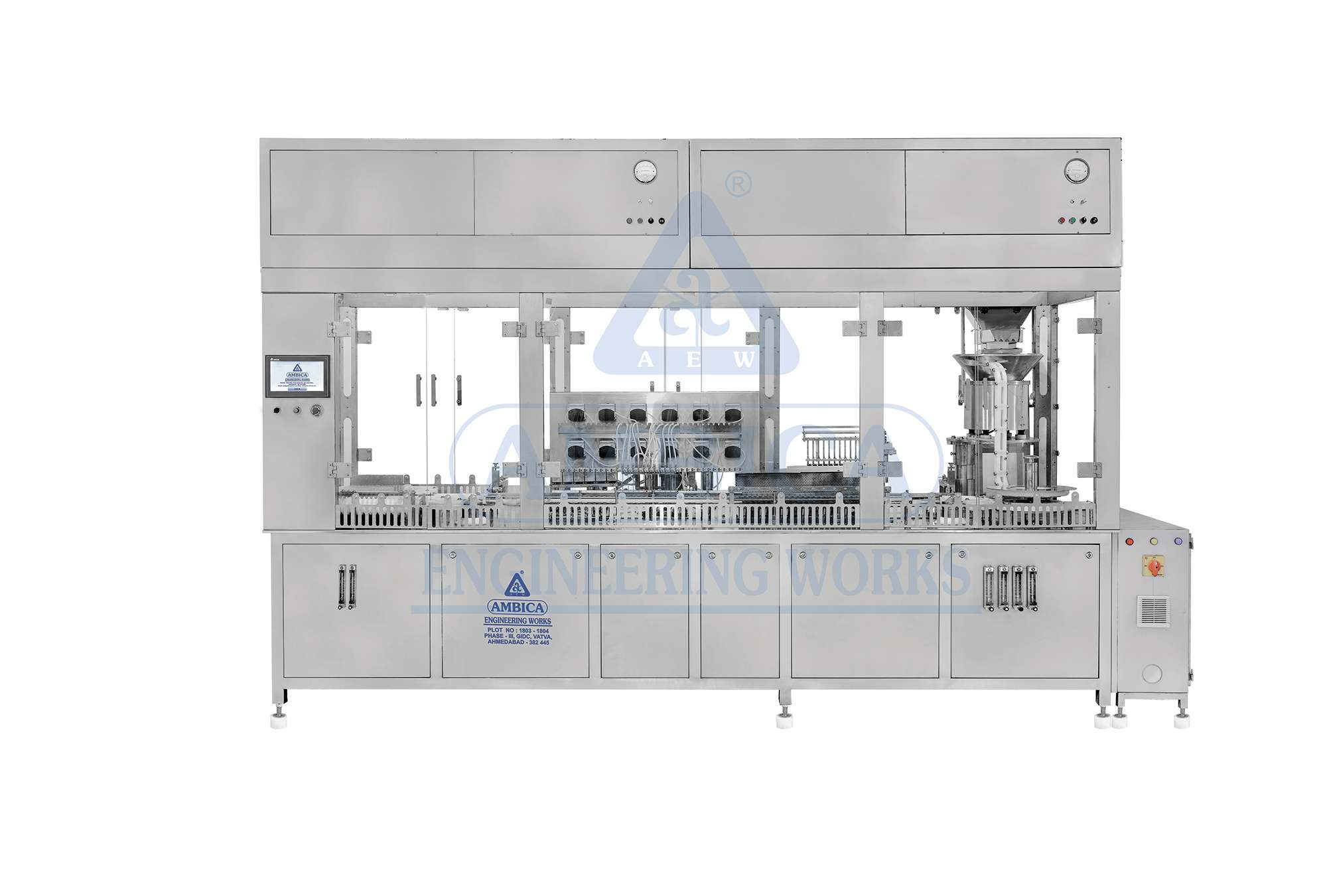 AMBICA High Speed Ampoule Filling & Sealing Machine - Servo Based