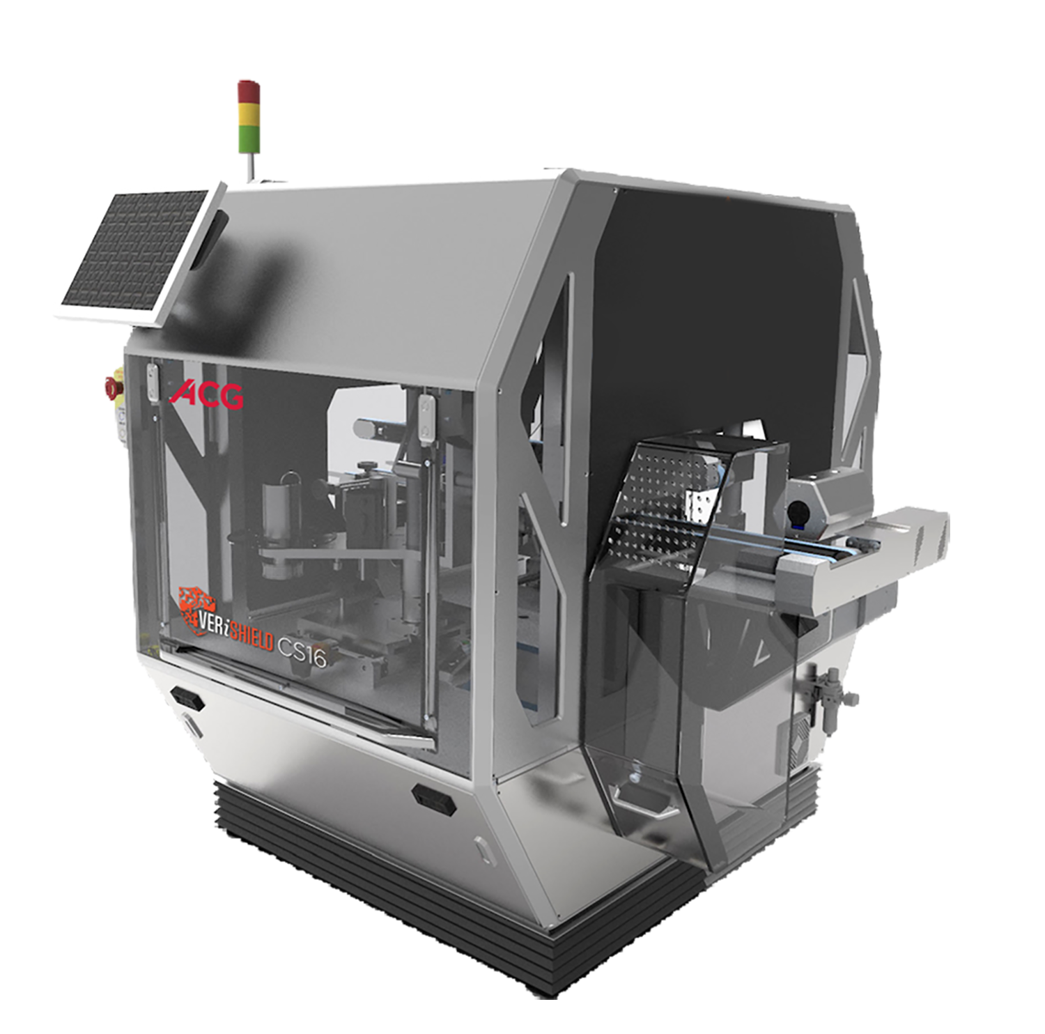 Online carton serialisation system with tamper labelling