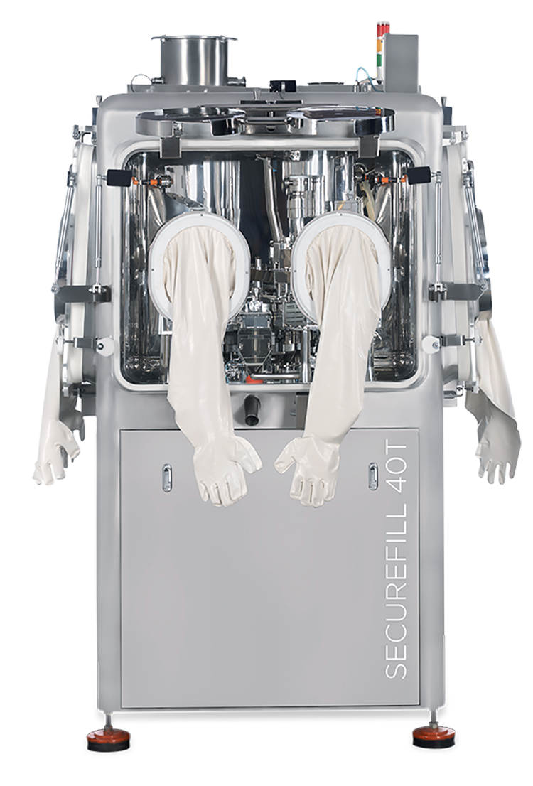 High-level containment capsule-filling line